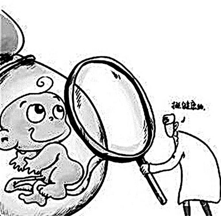 医院场景手绘漫画